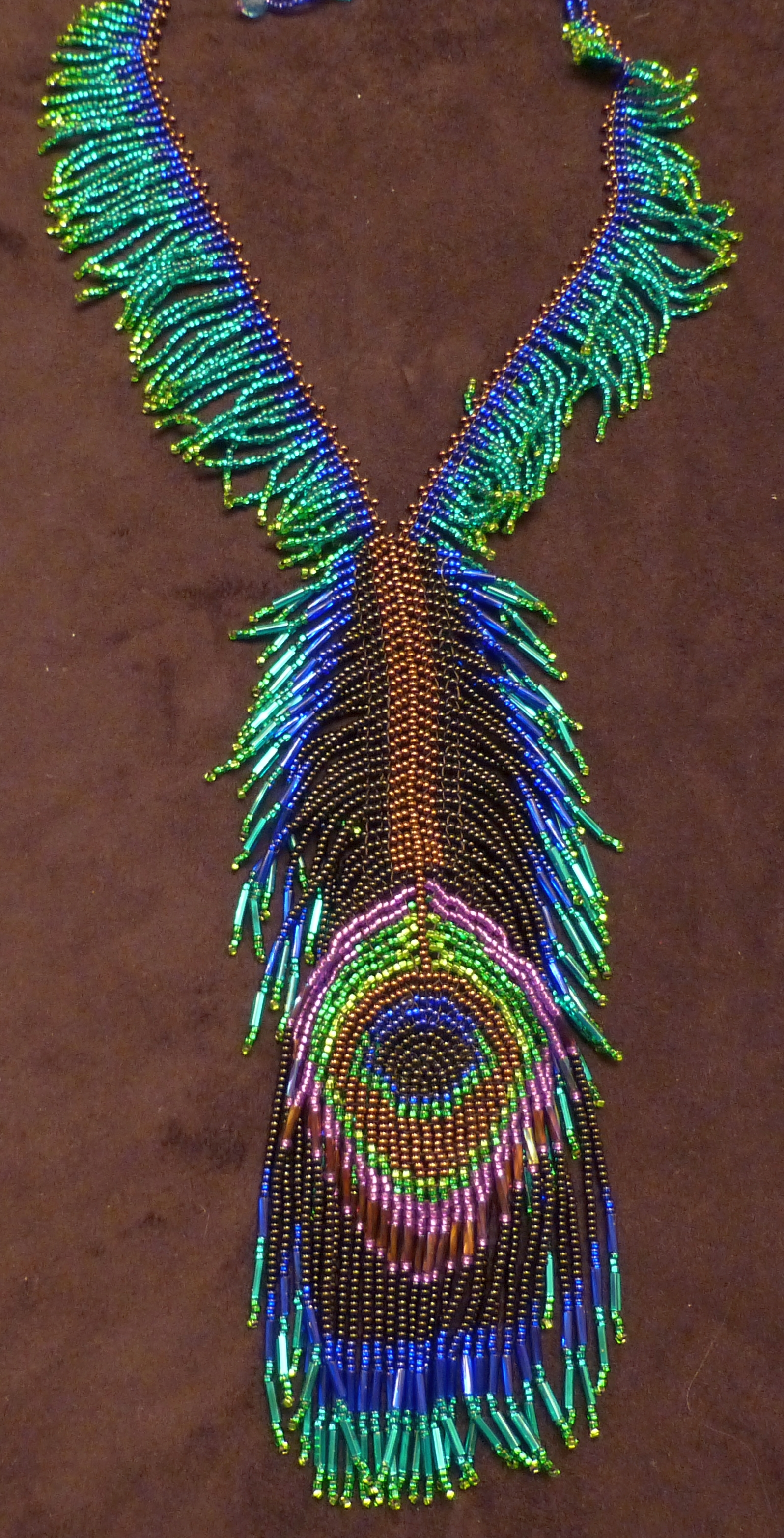 feather necklace chain pearl length peacock pin shipping your choose fast